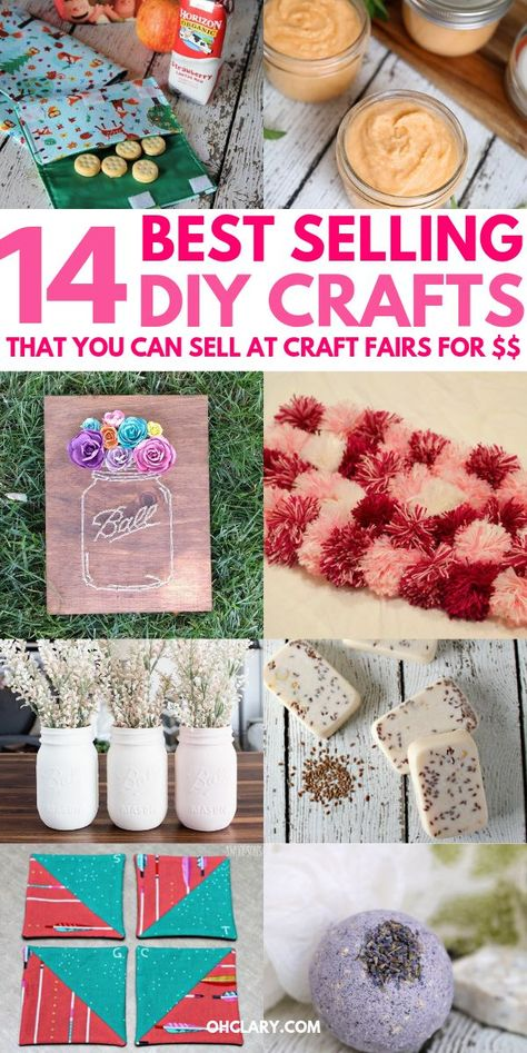 14 Awesome DIY Crafts That Sell Well At Craft Fairs and On Etsy! These fast & easy to make handmade project ideas can be made by teens and are great for making money from home. Try these crafts that make money now and be amazed at how many people want to buy them!