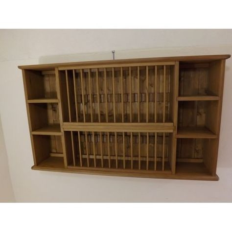 Pine 28 Plate Rack W114cm Made In Somerset By Jeremy Hill