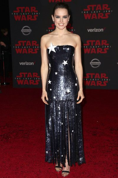 Daisy Ridley attends the premiere of Disney Pictures and Lucasfilm's 'Star Wars: The Last Jedi' at The Shrine Auditorium.