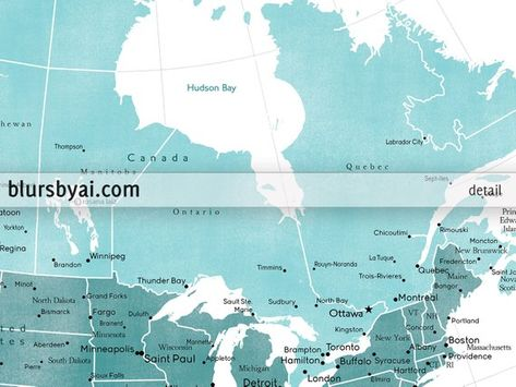20x16 Printable Map Of Canada With Provinces Canada Map With
