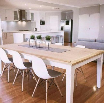 Natural Wood And Plants Home Decor Dining Room Design House