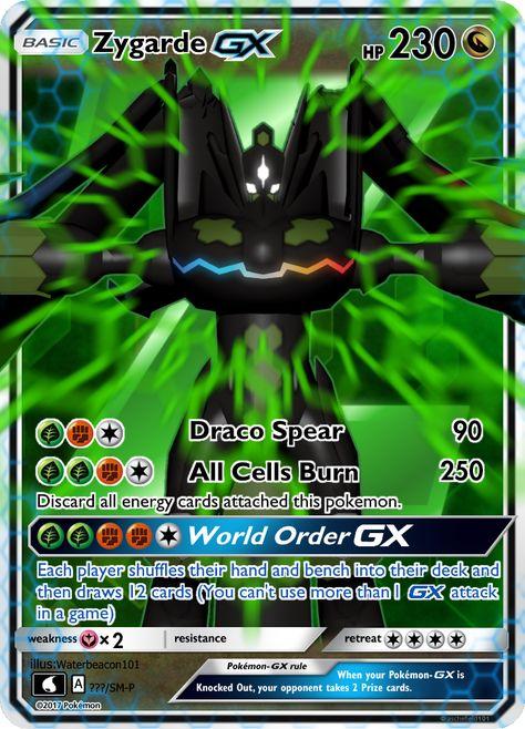 Zygarde Gx By Waterbeacon Pokemon Cards Cool Pokemon Cards Fake Pokemon Cards