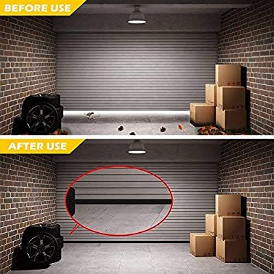Universal Garage Door Bottom Threshold Seal Strip Weatherproof Rubber Diy Weather Stripping Replacement Not Inc In 2020 Weather Stripping Weatherproofing Garage Doors