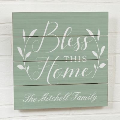 Collective Decorate Any Room In Your Home Or Your Front Door With The Bless This House Wall Slat Sign Cho Rustic Wooden Sign Wood Doors Interior Wooden Signs