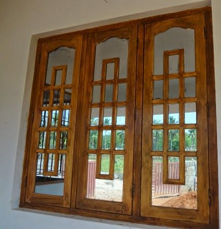 Kerala Model Wooden Window Design In 2020 Wooden Window Design Indian Window Design Window Grill Design Modern
