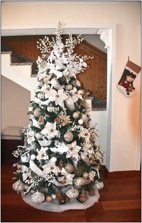 52 Rustic Non Traditional Christmas Tree Design Ideas For Home White Christmas Trees Christmas Tree Garland Silver Christmas Tree