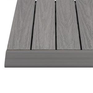Newtechwood 1 6 Ft X 1 Ft Quick Deck Composite Deck Tile Straight Trim In Westminster Gray 4 Pieces Box Qd Sf Gy The Home Depot Deck Tile Composite Decking Deck Tiles