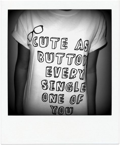 PREORDER: Cute As A Button Shirt  Harry Styles by KaliforniaDreamz