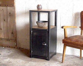 Meuble D Entree Bois Metal Style Industriel Sur Mesure Furniture Entrance Furniture Wood And Metal