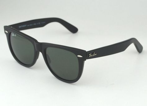 fashion Ray Ban RB2140 901 58 Original Wayfarer Classics Black Frame  Polarized Green c3d628a8637dd