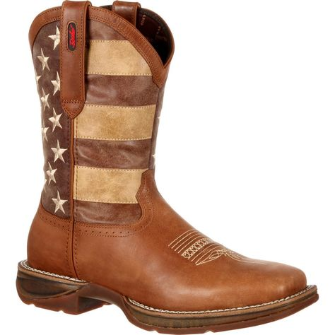 Durango Mens Rebel Faded Flag Western Boot Brown and Faded Union Flag DDB0078 | eBay
