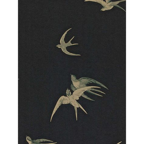 BuySanderson Swallows Wallpaper, Black, DVIWSW105 Online at johnlewis.com