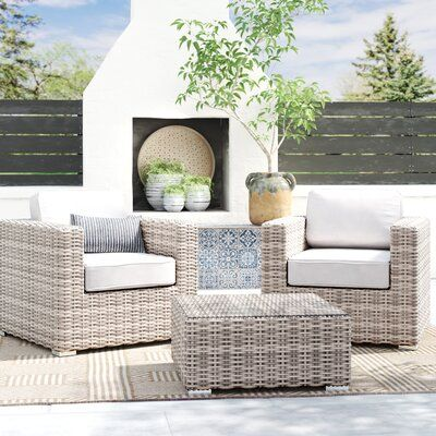 Ravenden 3 Piece Seating Group With Cushions Joss Main Porch Furniture Layout Seating Groups Porch Furniture
