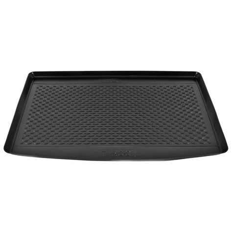 Car Boot Mat for VW T-Roc (2017-) Rubber The heavy-duty car boot mat has been specially designed for VW T-Roc (2017-). It will perfectly fit the interior design of your vehicle and provide optimal protection for your car boot. The mat is made of durable rubber and is non slip, tear and water resistant and low maintenance. The raised edges of the mat can prevent the escape of the liquids during transportation and protect the inside of the boot and the carpeting from dirt. Note: our mats are roll-