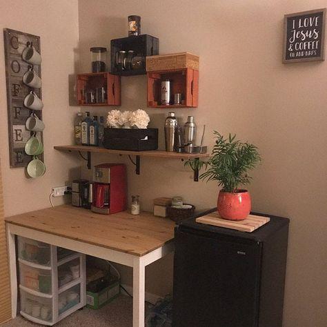 Barnwood Coffee Mug Rack Wall Mount Coffee Cup Holder