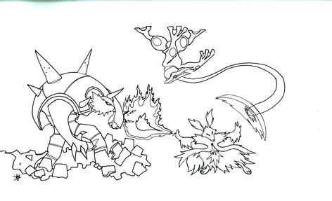 Coloriage Pokémon Méga évolution 9 Nouveau Coloriage
