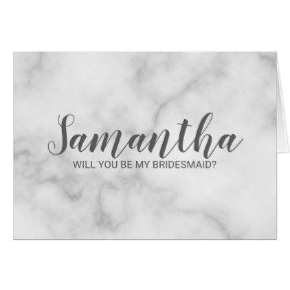 Will You Be My Bridesmaid Card Elegant Script Bridesmaid Wedding Card