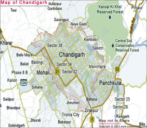 Political Map Of Chandigarh Is Showing You The Information And - Saidpur map