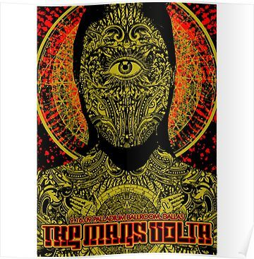 The Mars Volta Poster By Genoapparell The Mars Volta Poster