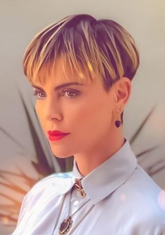 Pin By B G On Charlize Theron Charlize Theron Short Hair Charlize Theron Hair Short Wedge Hairstyles