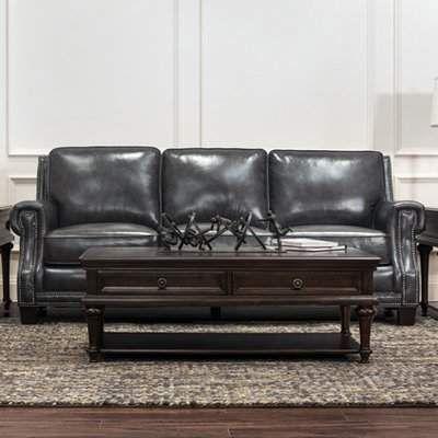 Pleasing Trent Austin Design Riley Leather Sofa Leather Sofa And Machost Co Dining Chair Design Ideas Machostcouk