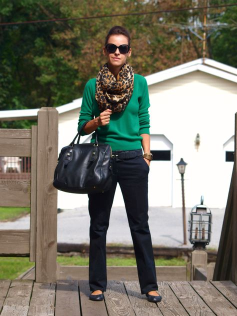 green and navy, nice casual look