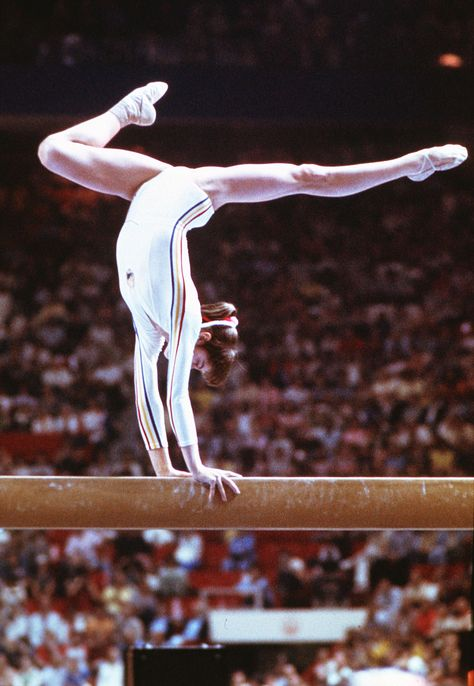 Nadia Comaneci, Romania. She became the queen of the 1976 Montreal Games when she was awarded the first perfect score.