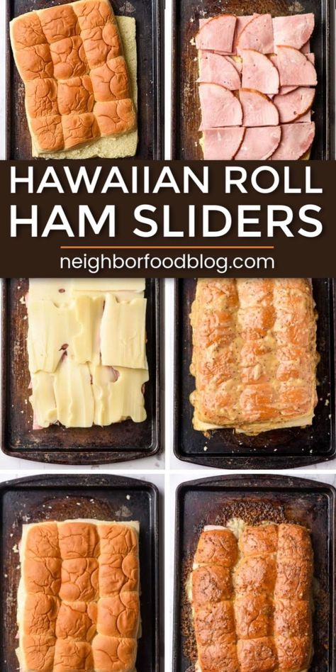 Hawaiian Roll Ham and Swiss Sliders Everyone LOVES these Hawaiian Roll Ham Sliders with layers of ham and melty Swiss cheese, with the most incredible sweet and tangy glaze! This a perfect party recipe or quick weeknight dinner. Hawaiian Roll Sliders, Ham And Swiss Sliders, Hawaiian Sweet Rolls, Ham And Chesse Sliders, Ham And Cheese, Swiss Cheese, Lasagna With Cottage Cheese, Rolled Sandwiches, Steak Sandwiches