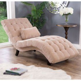 Becca Upholstered Chaise Lounge Cream Sam S Club Upholstered Chaise Lounge Upholstered Chaise Living Room Chairs
