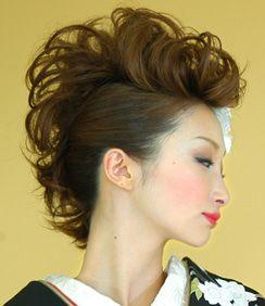 さぁやん 着物のヘアー かっこいいポンパはいかが リーゼントヘア 成人式 ヘアスタイル 盛り 髪