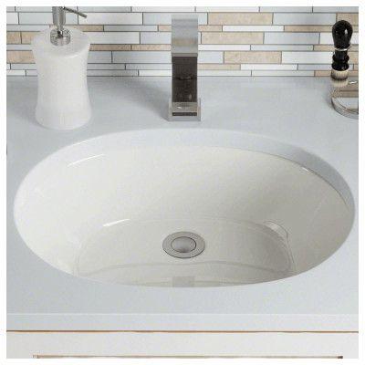 Polaris Sinks Porcelain Oval Undermount Bathroom Sink Sink Finish