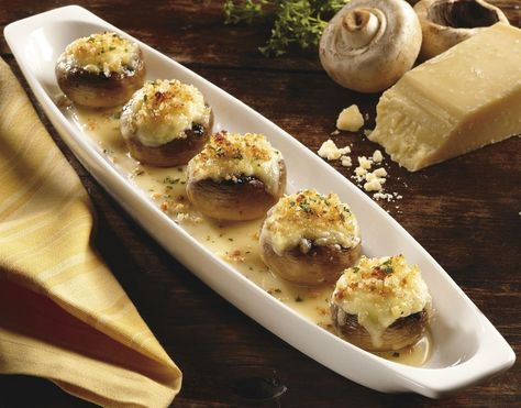 White Cheddar Stuffed Mushrooms