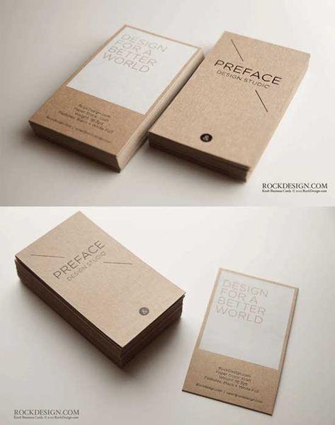 Kraftpapier Geschäfts Karten Zusammen Mit Handwerk Papier