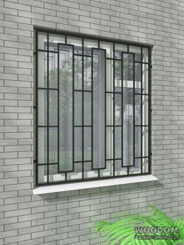 Simple Unique Window Grill Design 6