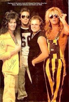 Oh Damn!! Van Halen ❤️ 😘 Eddie and Alex Van Halen Michael Anthony and David…