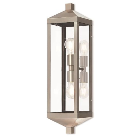 Nyack 24 Inch Tall 2 Light Outdoor Wall Light By Livex Lighting Wall Lantern Outdoor Wall Lantern Wall Lights