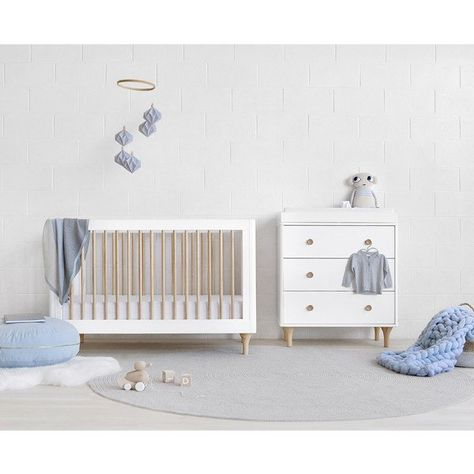 Babyletto Lolly Cot White Natural Design Kids