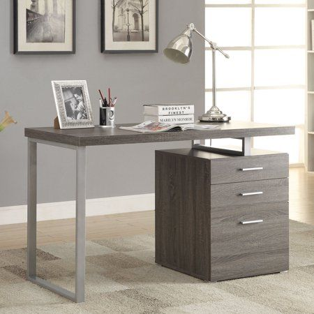 Coaster Home Furnishings Office Desk Weathered Grey Size 47 25 Inchw X 47 25 Inchd Home Office Furniture Contemporary Office Desk Modern Home Office Desk