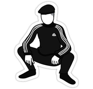 Slav Squat Sticker In 2020 Slav Squat Squats Funny Decals