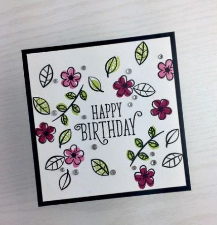 Geburtstagskarte Kalligraphie Stempel Sets 31 Ideen