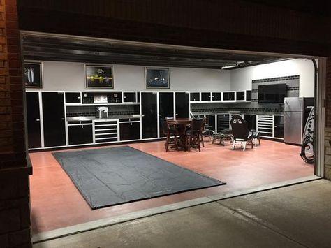 The Top Ten Garages Shops We Found On Pinterest Don T Judge Garage Interior Garage Design Garage Loft