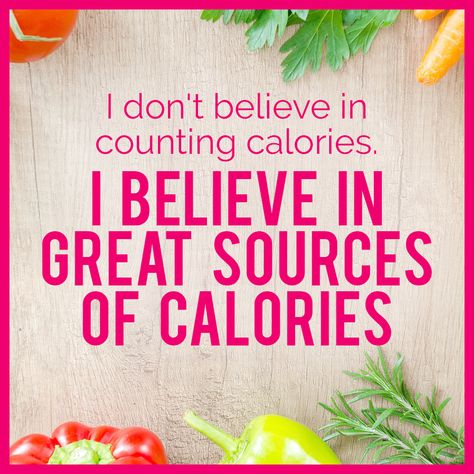 I BELIEVE IN GREAT SOURCES OF CALORIES! /wise words inpirati... - #believe #calories #great #inpirati #sources #words - #WeightlossQuotes