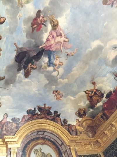 Ceiling At The Palace Of Louis Xiv Versailles In 2019