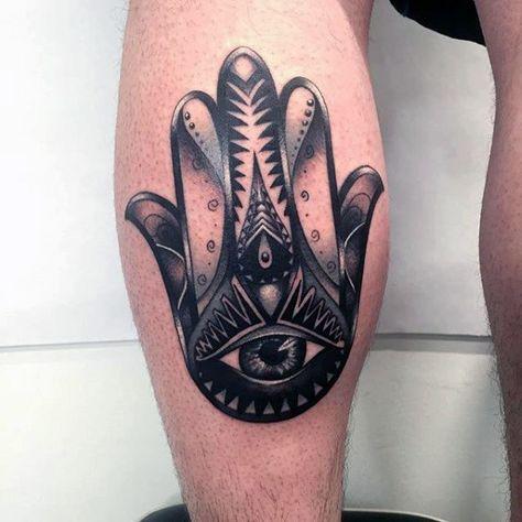 80 Hamsa Tattoo Designs For Men - Evil Eye Ink Ideas