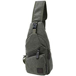 3938e9e9db49 Canvas Chest Pack Crossbody Casual Sling Shoulder Bag(502) (army ...