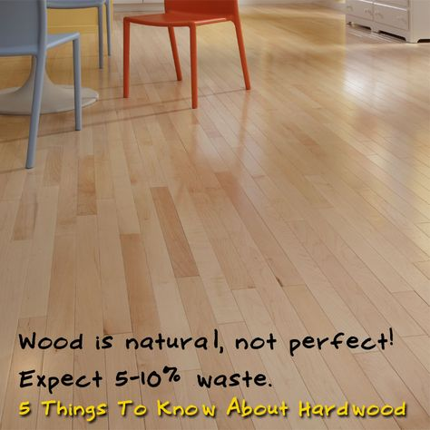 Expect 5 – 10% waste. Wood is a product of nature – it's not perfect! The industry allows a tolerance of 5% defective boards, and some exotics will have 10%. [5 Things To Know About Hardwood]