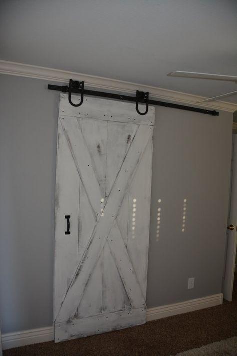 Rustic White Wash Barn Doors Customize Your Size Etsy Interior Barn Doors Barn Door Sliding Doors Interior