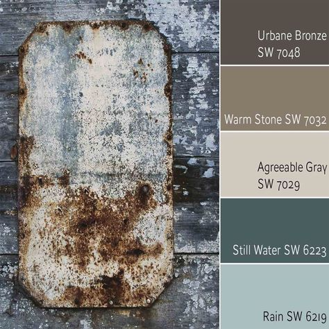 still water for front door Urbane Bronze SW 7048 Complementary Color Scheme