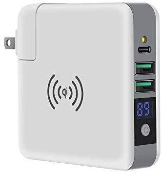 Sosu Usb急速充電器 Qi ワイヤレス充電 Qi認証済 6500mah モバイルバッテリー搭載 3in1 2ポート Acアダプター Led電気表示 Usb充電器 ファーストチャージに適用 携帯電話 Ipad モバイルバッテリー アダプター 充電器 携帯電話
