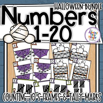 Halloween Count The Room Numbers 1 20 1 To 1 Counting 10s Frame Tally Marks Learn To Count Halloween Themes Halloween Fun